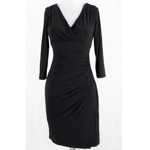 Lauren Ralph Lauren Black Ruched Dress - Size 6